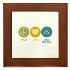 Peace Love Cell Biology Framed Tile