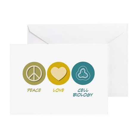 Peace Love Cell Biology Greeting Card