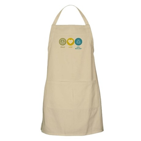 Peace Love Cell Biology BBQ Apron