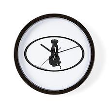 Ridgeback Spine Oval Wall Clock