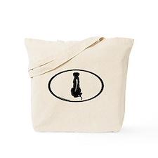 Ridgeback Spine Oval Tote Bag