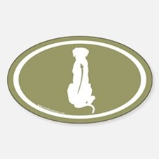 Ridgeback Spine Oval (white/sage) Oval Decal