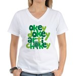 Okey Dokey Women's V-Neck T-Shirt