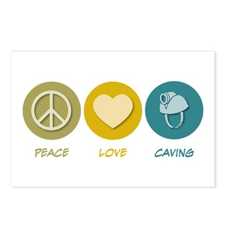 Peace Love Caving Postcards (Package of 8)