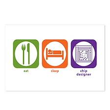 Eat Sleep Chip Designer Postcards (Package of 8)