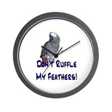 Don't Ruffle My Feathers! Wall Clock