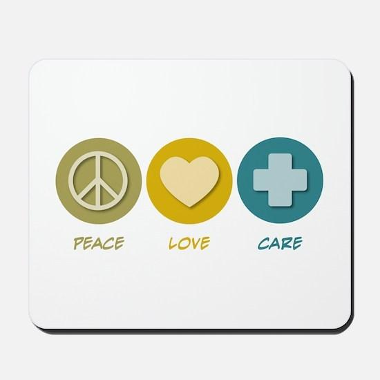 Peace Love Care Mousepad