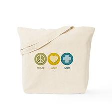 Peace Love Care Tote Bag