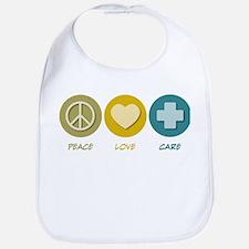 Peace Love Care Bib
