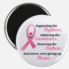 """Supporting, Admiring, Honoring 2 2.25"""" Magnet (100"""