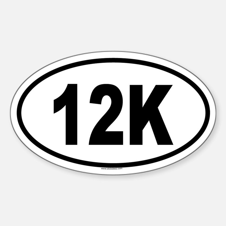 12K Oval Decal