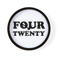 FOUR TWENTY Wall Clock