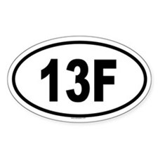 13F Oval Decal