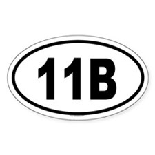 11B Oval Decal