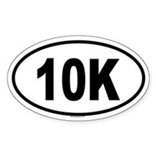 10K Oval Decal