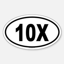 10X Oval Decal