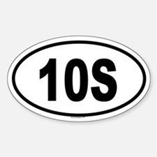 10S Oval Decal