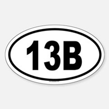 13B Oval Decal