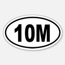 10M Oval Decal