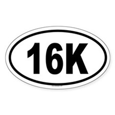 16K Oval Decal