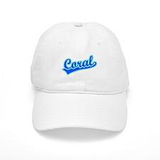 Retro Coral (Blue) Baseball Cap