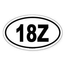 18Z Oval Decal