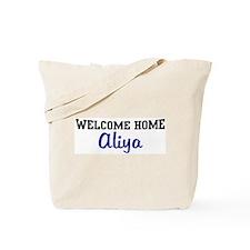 Welcome Home Aliya Tote Bag