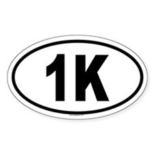 1K Oval Decal
