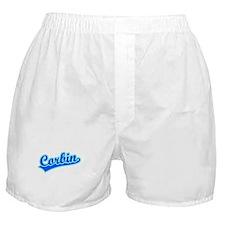 Retro Corbin (Blue) Boxer Shorts