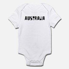 Australia Faded (Black) Infant Bodysuit