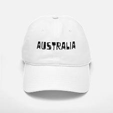 Australia Faded (Black) Baseball Baseball Cap