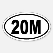 20M Oval Decal