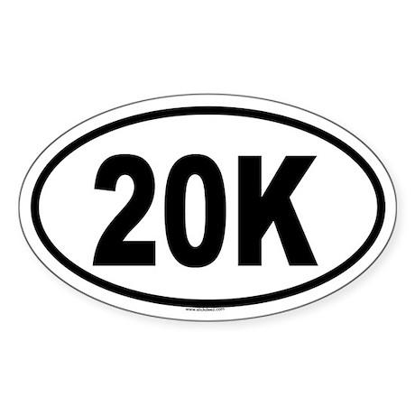 20K Oval Sticker