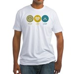 Peace Love Camp Fitted T-Shirt