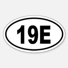 19E Oval Decal