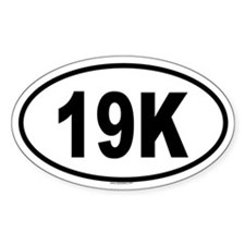 19K Oval Decal