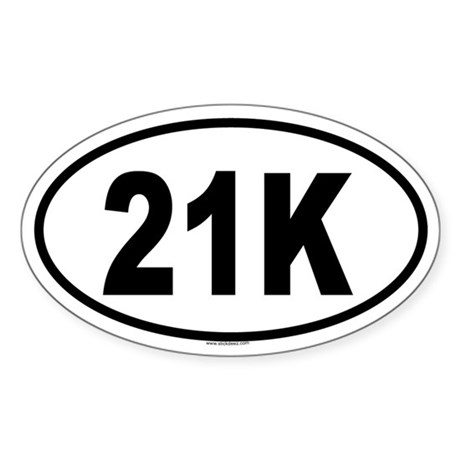 21K Oval Sticker
