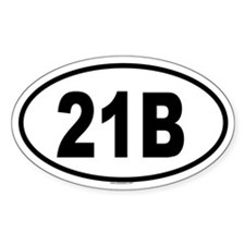 21B Oval Decal