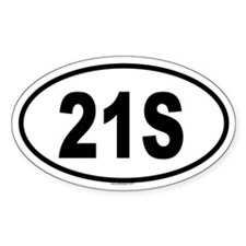 21S Oval Decal