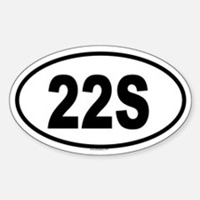 22S Oval Decal