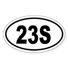 23S Oval Decal