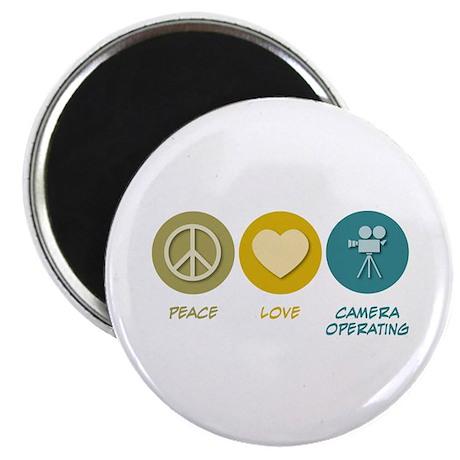 Peace Love Camera Operating Magnet
