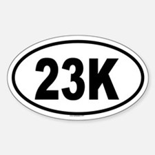 23K Oval Decal