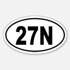 27N Oval Decal