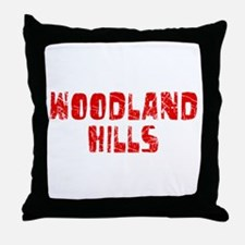 Woodland Hills Faded (Red) Throw Pillow