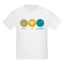 Peace Love Calligraphy T-Shirt