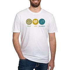 Peace Love Calligraphy Shirt