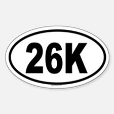 26K Oval Decal