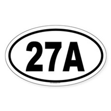 27A Oval Decal