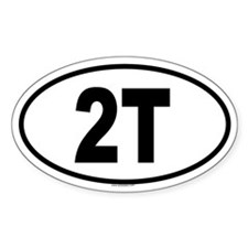 2T Oval Decal